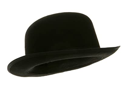 49bfc681034da Amazon.com   Black Blended Wool Felt Derby Bowler Hat Large ...