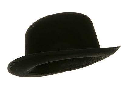 69017130f38 Amazon.com : Black Blended Wool Felt Derby Bowler Hat Large ...