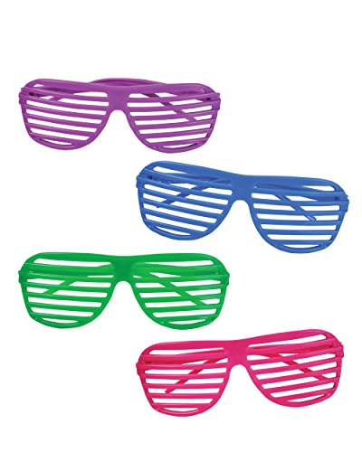 Kangaroo 80's Neon Shutter Shades, Kids Sunglasses (12-Pack) ()