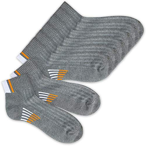 - APA Lifestyle Active Power Leap Combed Cotton Socks (Gray 4 Pairs Pack (Size:XL))