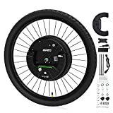 """10. GRM iMortor 3.0 Wireless Electric Bike Wheel,APP Based,26""""x1.95"""" Disc-Brake Bicycle Front Wheel Conversion Kits,36V/350W Powerful Motor Kit for Android & iOS, All Bluetooth Versions,MTB/CTB/Cruiser"""