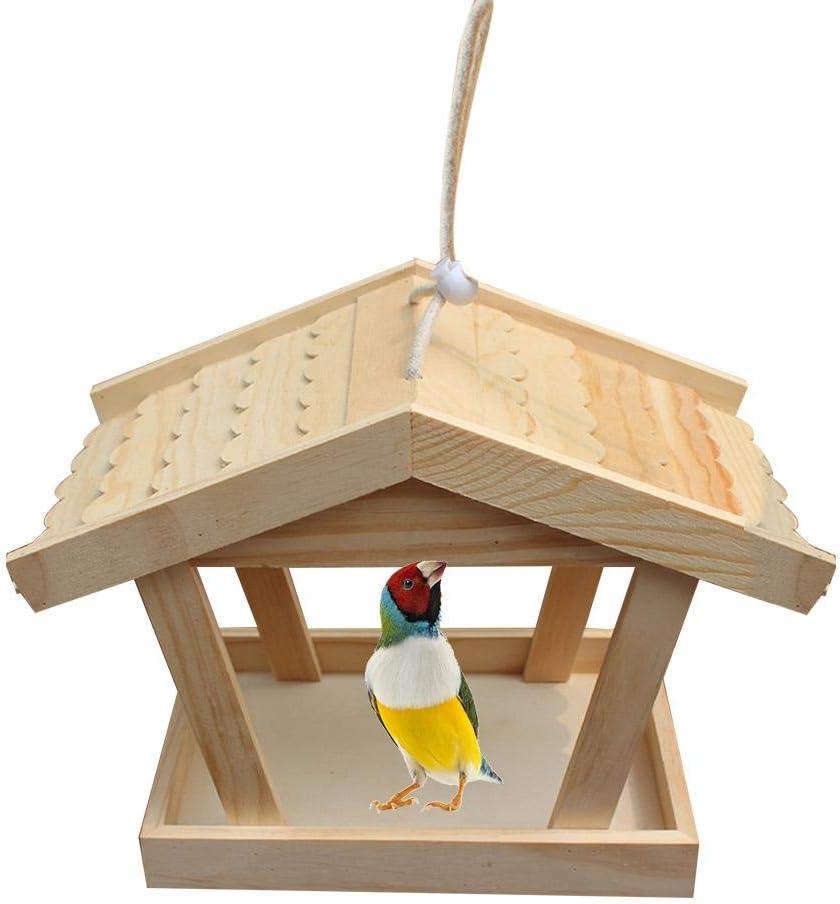 yestter - Comedero de pájaros para pájaros y pájaros en el exterior