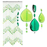 Hab & Gut DV0253 door curtain Design: TEARDROPS, Colour: GREEN, Material: plastic, Size: 90 x 200 cm/35,4 x 78,7 inches