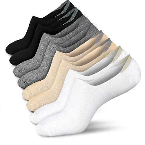 Women No Show Socks Low Socks Women Short Socks No Show Socks for Flats Non Slip Boat Line
