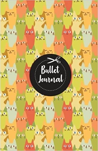 amazon bullet journal cute cat colorful pattern cover notebook