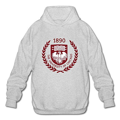 Men's The University Of Chicago 01 Long Sleeve Hooded Sweatshirt Large Ash]()