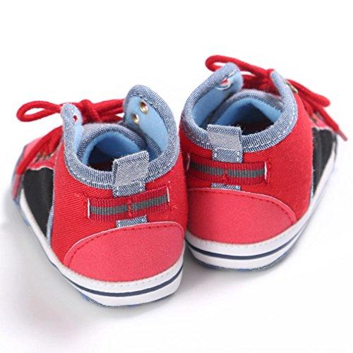 Tefamore Zapatos Botas de Bebe de Suave de Primeros caminantes Invierno Otoño Rojo