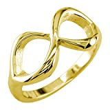 Infinity Ring Couple in 14K Yellow Gold size 6
