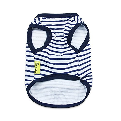 1 DroolingDog+Small+Clothes+Striped+Tshirts