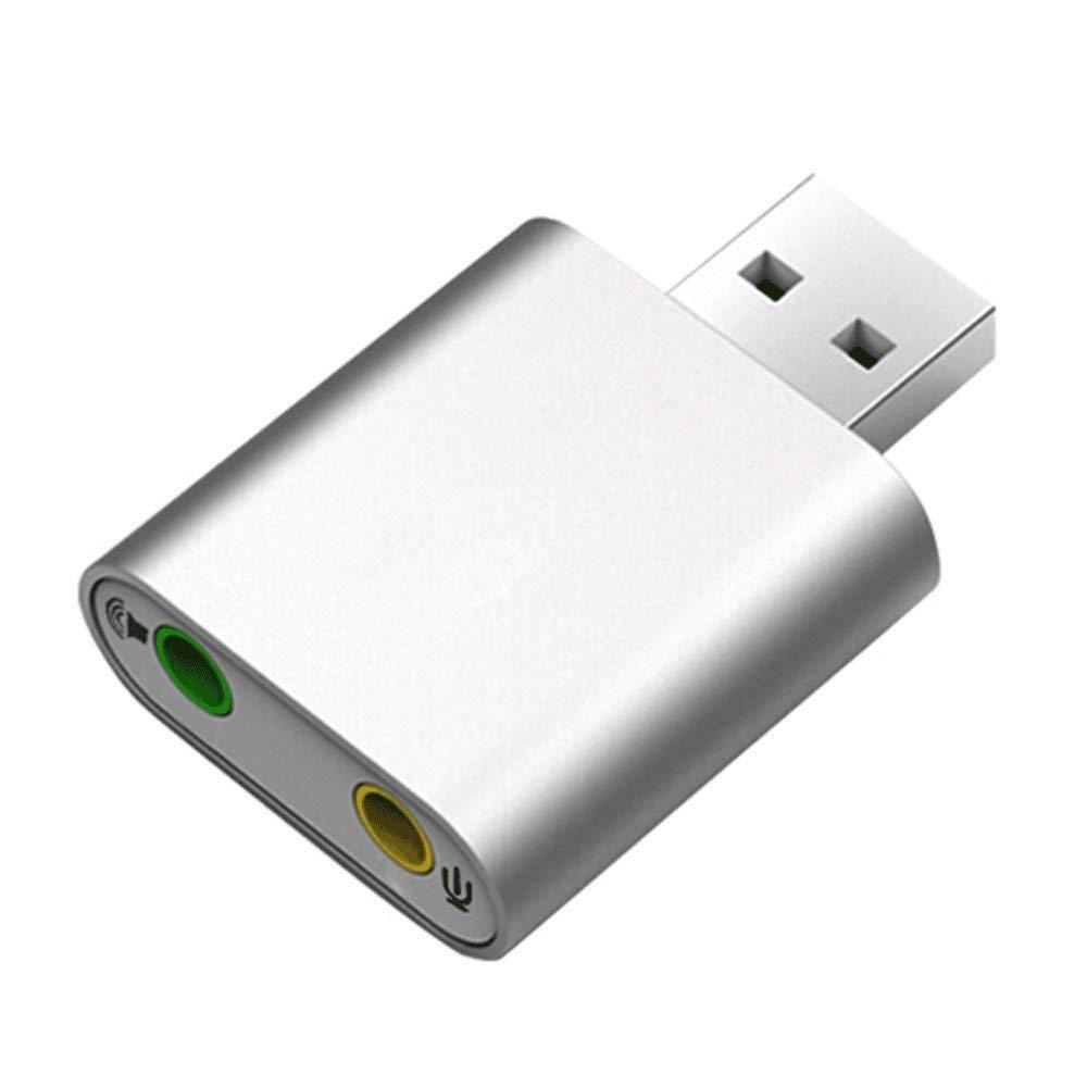 Zmsdt Tarjeta De Sonido Externa USB Convertidor De Auriculares De ...