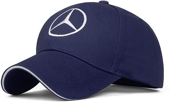 Unisex Hat Travel Cap Car Racing Motor Hat for Mercedes Benz White Car Logo Adjustable Baseball Cap