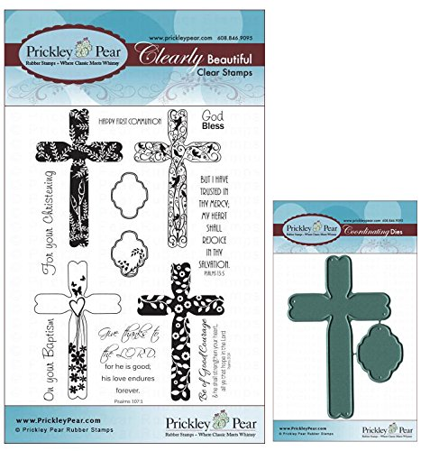 Prickley Pear Spring Crosses Clear Stamp and Die Set - CLR032 & PPRS-D032 - Bundle 2 Items