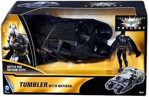 Batman The Dark Knight Trilogy Exclusive Tumbler with Batman Mattel Toys