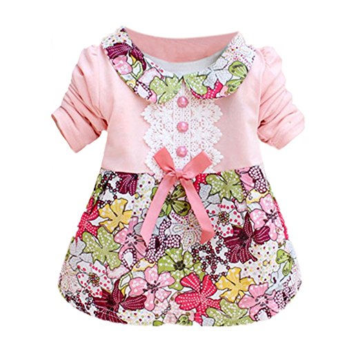 Silvercell Baby Kinder Blumenprinzessin Dress Bowknot One Piece Kleid Rock