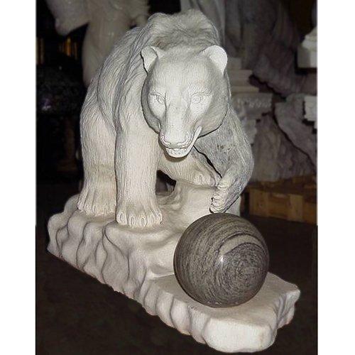天然 大理石 彫刻 クマ B00FGR1RBS