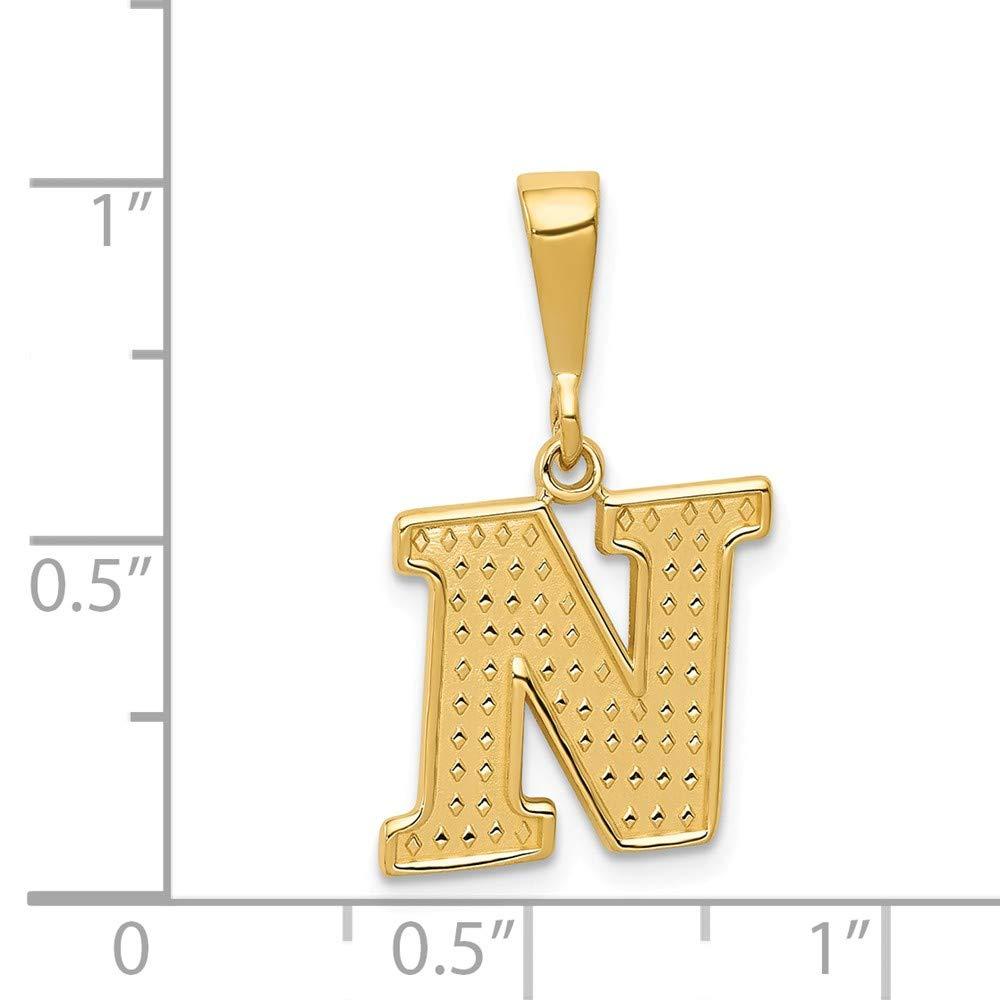 Mia Diamonds 14k Yellow Gold initial N Charm