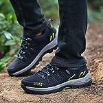 Chaussures de Randonnée Outdoor pour Hommes Femmes Basses Trekking et Les Promenades Sneakers Verte Bleu Noir 36-47 7