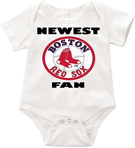 SW-USA Newest Red Sox fan Unisex onesie Infant Romper Creeper (3-6months, White)