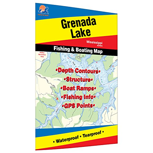 Grenada Lake Fishing Map