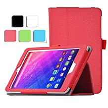 Acer Iconia One 7 B1-780/K case, KuGi ® Acer Iconia One 7 B1-780/K,Multi-Angle Stand Slim-Book PU Leather Cover Case for Acer Iconia One 7 B1-780/K tablet (Red)