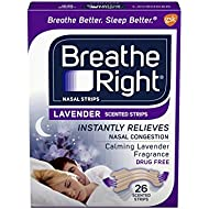 Breathe Right Nasal Strips to Stop Snoring, Drug-Free, Calming Lavender, 26 count