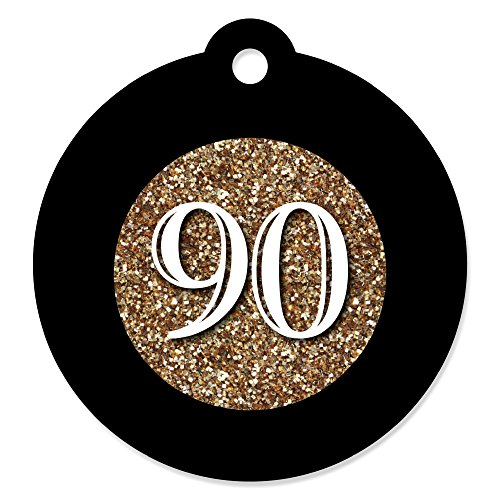 Big Dot of Happiness Adult 90th Birthday - Gold - Birthday P
