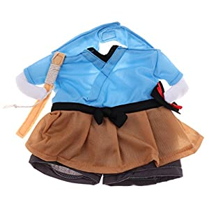 B Blesiya Cosplay Fancy Puppy Clothes Halloween Pet Cosume Dog Cat Apparel Set - M