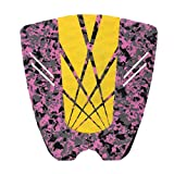 New 3 Piece Tail Traction Deck Grip Pads Stomp Mat Surfboard Shortboard Longboard Decor Yellow Camo