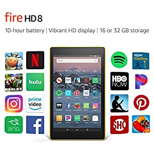 Fire HD 8 Tablet (8″ HD Display, 16 GB) – Yellow