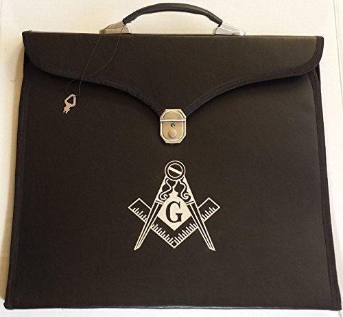 Masonic Regalia Black File Case For WM/MM Apron with Hard Handle & G Logo by Zest4Canada
