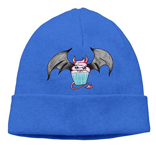 Tin Cup Costume (Uanjuzn Cute Evil Bat Cupcake Men/Women Cool Fashion Hedging Hat Wool Beanies Cap RoyalBlue)