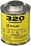 K-Flex 800-320-PTB Amber 320 Fast Tack Contact Adhesive, 1 pint, Can with Brush Top (Pack of 24)