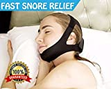 Stop Snoring Chin Strap -(SPECIAL RELIEF BUNDLE) Includes: Anti Bacterial Snoring Prevention Strap + 20 Nasal Strips + Silk Sleep Mas k+ Travel Bag. SAY GOODBYE TO SNORING w/ proven Anti Snore devices