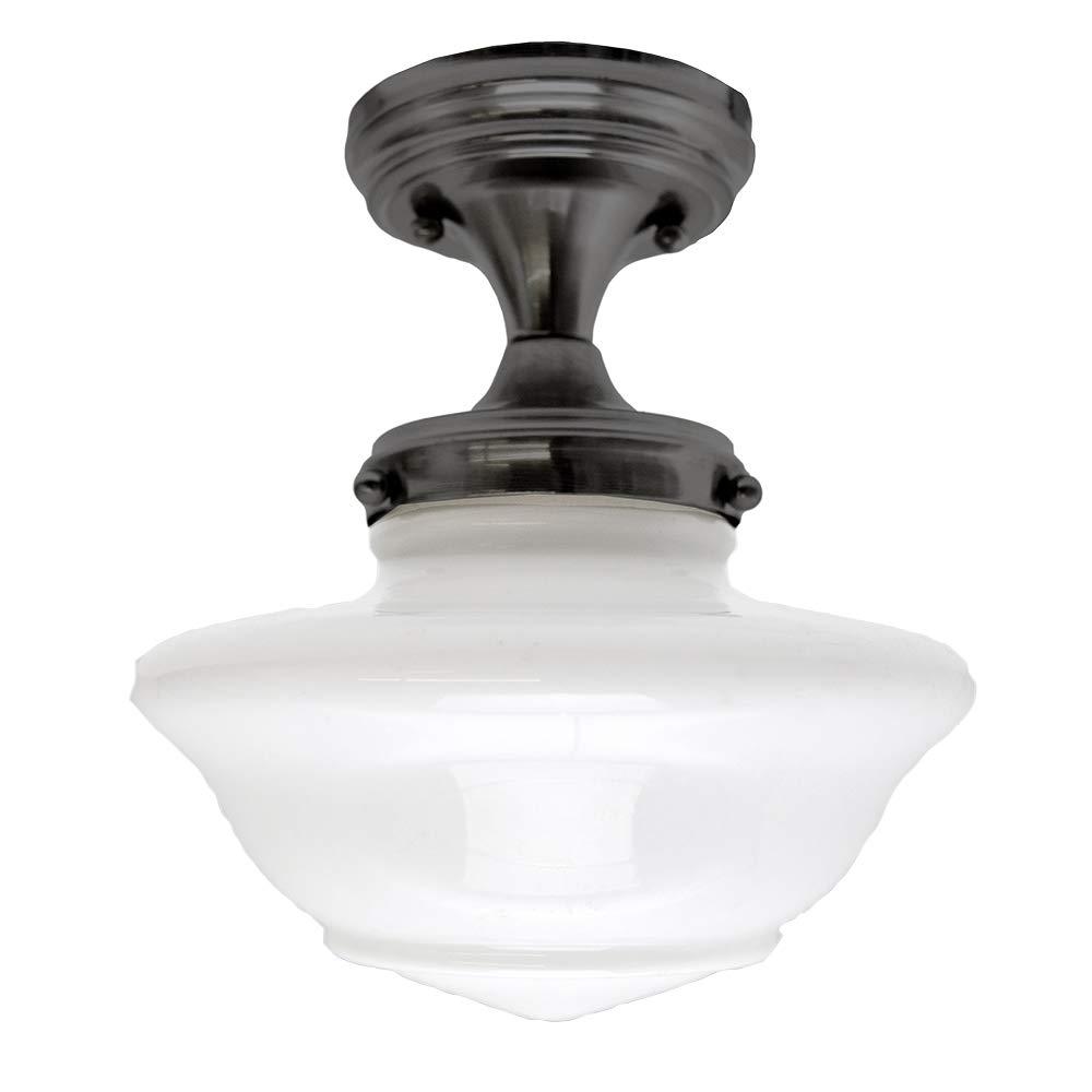 Design House 577502 Schoolhouse 1 Light Ceiling Light, Oil Rubbed Bronze