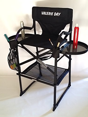 "TuscanyPro Makeup & Hair Chair-YOUR NAME PRINTED ON THIS CHAIR-29"" Seat Height"