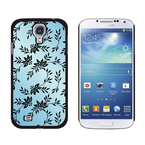 Graphics and More Power of Flowers Blue Snap-On Hard Protective Case for Samsung Galaxy S4 - Non-Retail Packaging - Black