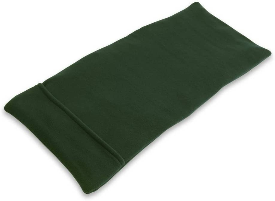 Sunny Bay XL Body Heating Pad, Whole Wheat Filled, Heat Therapy Pad for Sore Neck, Back & Shoulder Muscle Pain Relief–Reusable, Non-Electric Heat or Cold Compress, Washable Green Fleece Cover