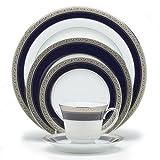 Noritake Crestwood Cobalt Platinum 5-Piece Place Setting