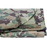 1.8m x 2.4m camouflage tarpaulin waterproof sheet cover ground ground army camo by ONESTOPDIY.COM