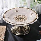 Lqchl Creative Ceramics High-Grade Decoration Style Home Furnishing Compote