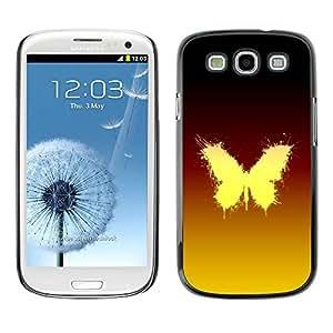 Paccase / SLIM PC / Aliminium Casa Carcasa Funda Case Cover para - Glowing Butterfly - Samsung Galaxy S3 I9300