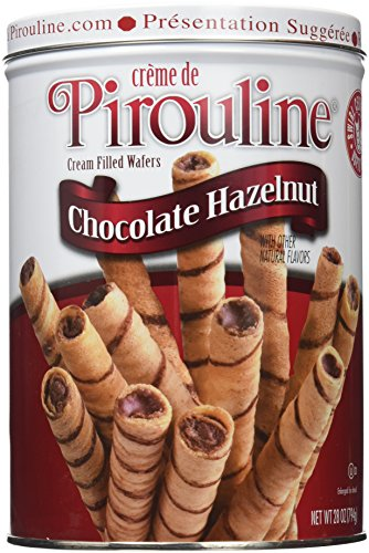 Creme Filled Chocolate Cookies - Pirouline Rolled Wafers, Chocolate Hazelnut, 28 Ounce
