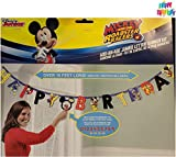 Mickey And The Roadster Racers Jumbo Letter Banner Kit - And 1 Exclusive HeyDays Happy Birthday Tattoo