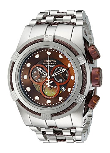 Dial Black Chronograph Mop - Invicta Men's 0824 Bolt Reserve Chronograph Black Mother-Of-Pearl Dial Stainless Steel Watch