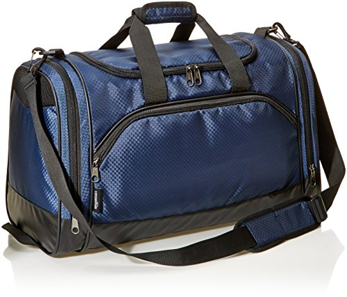 AmazonBasics Sports Duffel – Small, Navy Blue