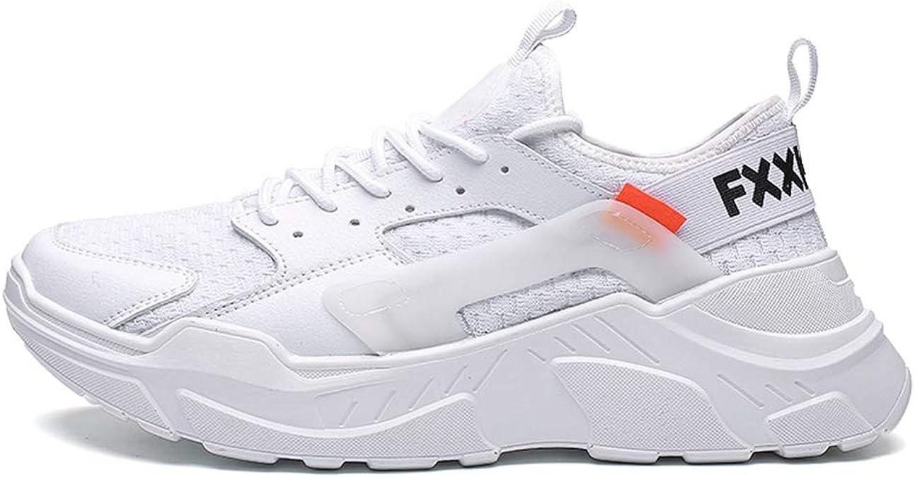 Zapatillas de Running de Carretera para Hombre Zapatillas Deportivas de Jogging con Cordones Zapatillas de Deporte Malla de Aire Ligero Transpirable Masculino Suela Gruesa Zapatillas de Deporte: Amazon.es: Zapatos y complementos