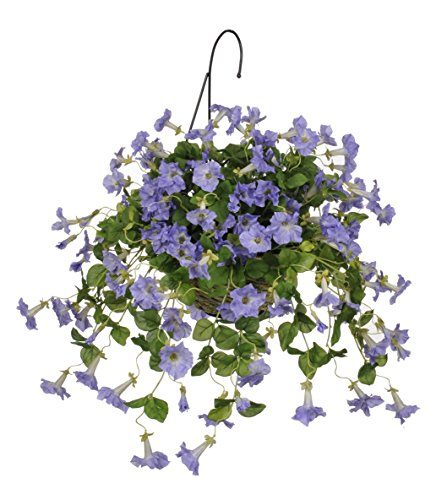 House of Silk Flowers Artificial Lavender Petunia Hanging Basket
