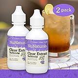 NuNaturals NuStevia Clear Extract Stevia Natural Liquid Sweetener, Sugar-Free (2 oz, 2 Pack)