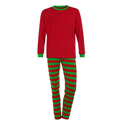 3130fea3e2 Image Unavailable. Image not available for. Color  CHIDY Man Women Family  Matching Christmas Pajamas Set Blouse +Santa Striped Pants ...