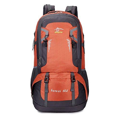 Mountaineering Bag Outdoor Männer und Frauen Schulter Rucksack Wanderpackage Bergsteigen Taschen , 60l rot